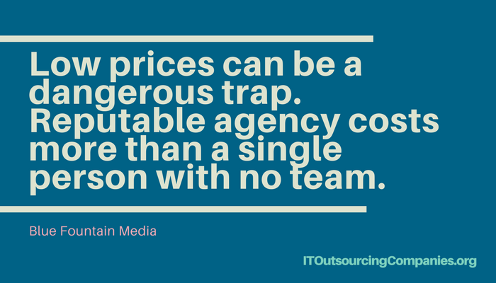 quote on hiring a web design and development company