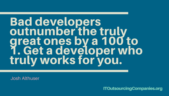 quote on choosing web design outsourcing companies