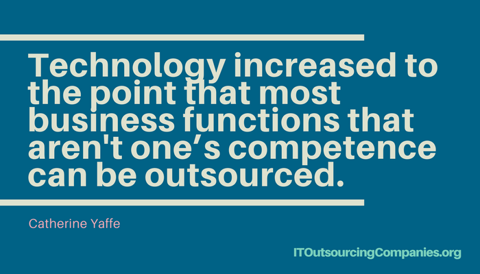 quote on outsourcing technologies