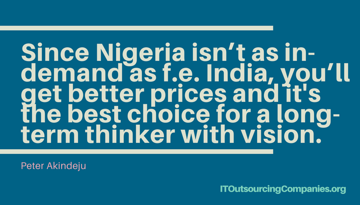 quote on outsourcing to lagos