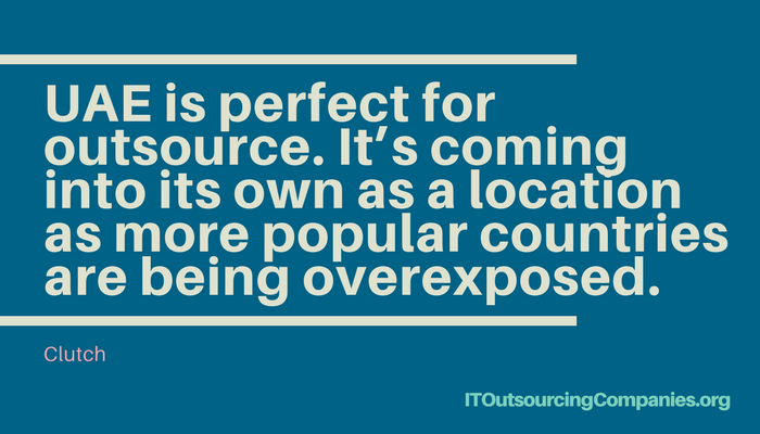 quote on outsourcing to uae