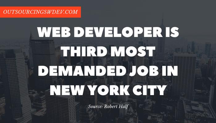 web developer nyc statistics