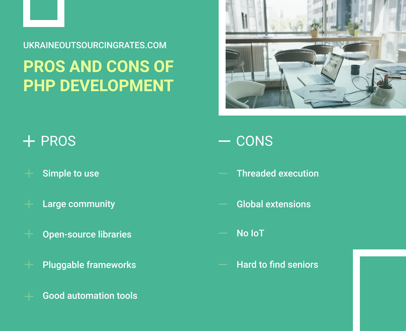 pros and cons of php development