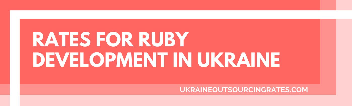 ruby development in Ukraine rates