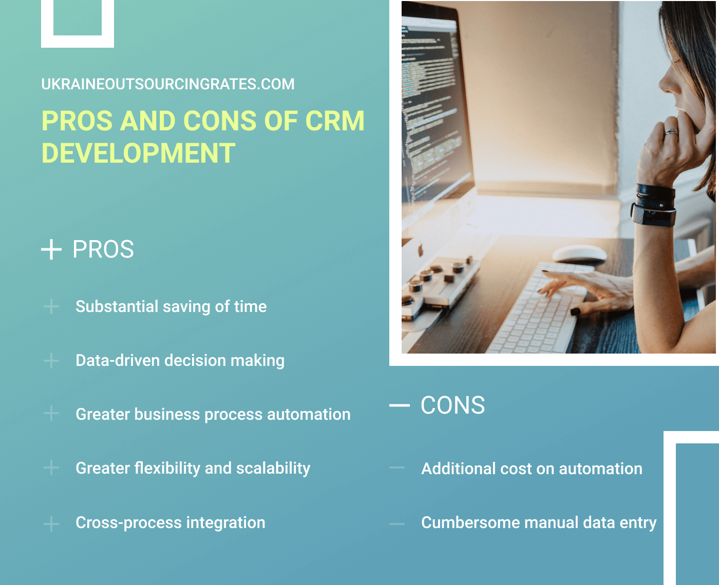 crm development pros and cons