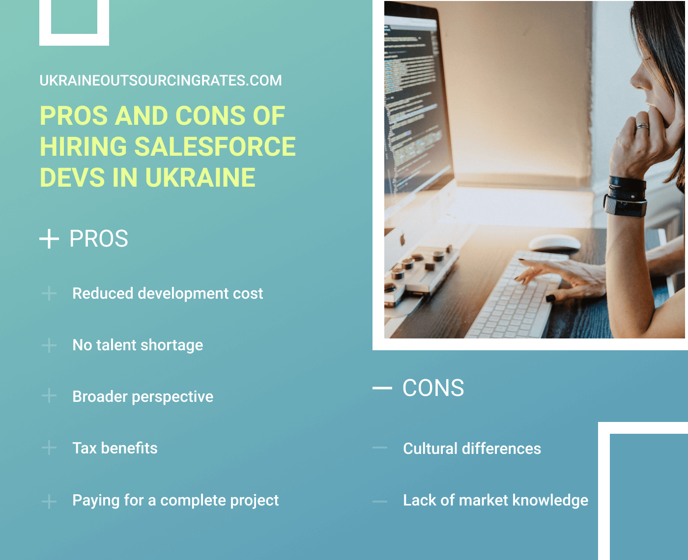 pros and cons of hiring salesforce coders in ukraine